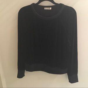 Rag and Bone Velour Crewneck Pullover Sweatshirt